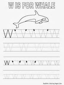 Tracing Letter W Coloring Page