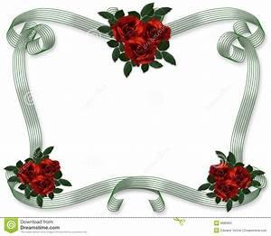 Red Roses Wedding Invitation Border Stock Illustration ...