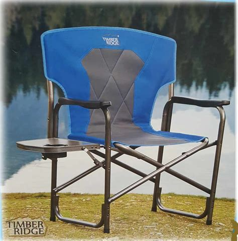 Timber Ridge Cing Chair With Table by Timber Ridge 2016 Director S Chair Blue