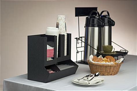 Organize your coffee station with a condiment organizer or caddy! Coffee Organizer Station | Countertop or Wall Mount with (5) Sections