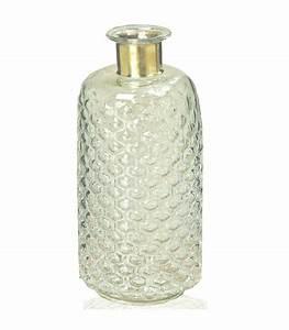 Vase En Verre Haut : vase design haut en verre clair et laiton 31cm ~ Nature-et-papiers.com Idées de Décoration