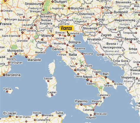 vicenza map  vicenza satellite image
