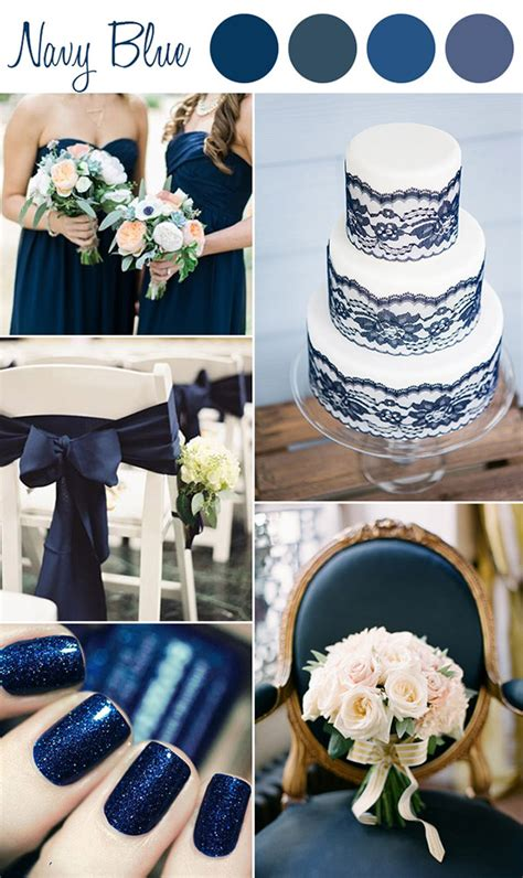 navy blue wedding color schemes 6 shades of blue wedding color ideas and wedding