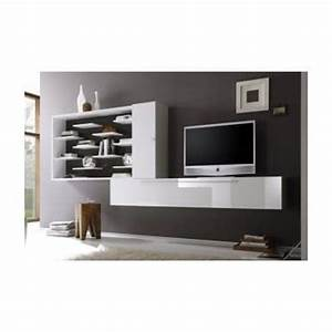 Meuble tv hifi design meuble tele bois trendsetter for Deco cuisine pour meuble tv bois