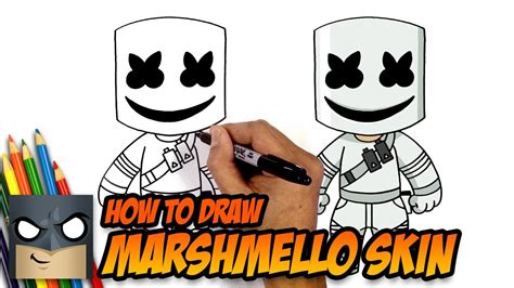 Neu set fortnite skin skins figur spielzeug. How to Draw Fortnite   Marshmello Skin   Step-by-Step ...