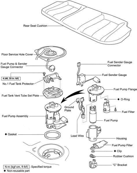 Fuel filter diagram toyota camry