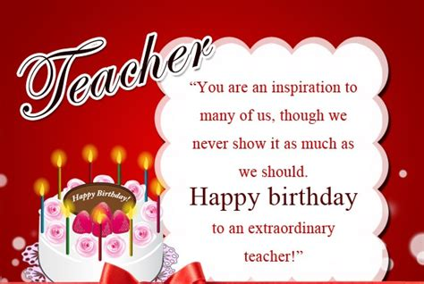 happy birthday wishes  teacher cards