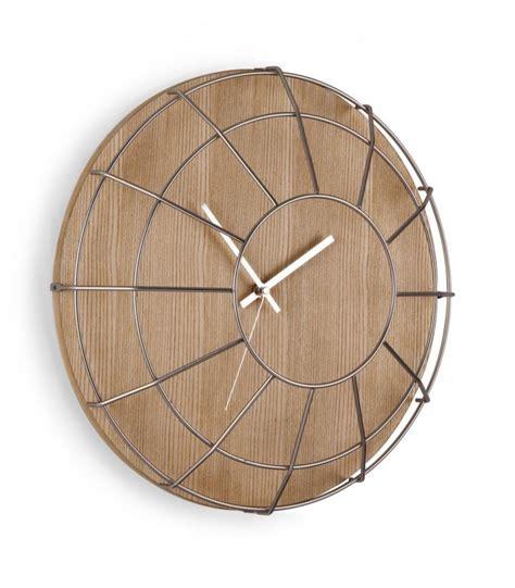 horloge murale design en bois et acier cage umbra