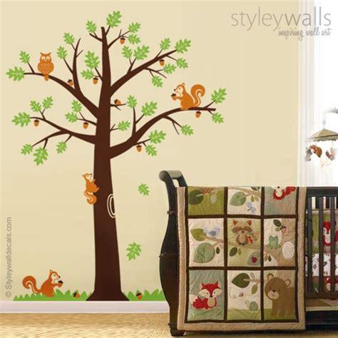 Wandtattoo Kinderzimmer Eichhörnchen by Wandtattoos Waldtiere Eichh 246 Rnchen Eiche Wandaufkleber