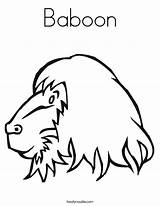 Baboon Coloring Makeup Designlooter Template Monkey sketch template