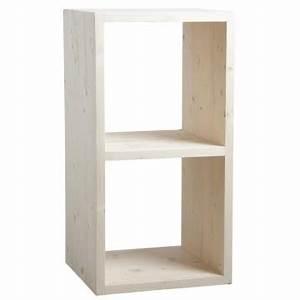 étagère Bois Brut : etag re 2 cubes en bois brut boisnature 39 l ~ Melissatoandfro.com Idées de Décoration