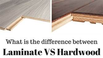 difference between laminate flooring vs hardwood flooring