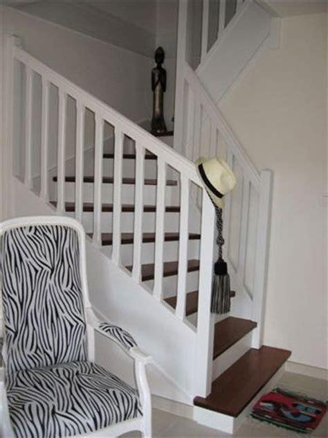 Escalier Riaux Hetre Et Inox by Escalier Peint Blanc Bois Sp 233 Cial Escalier