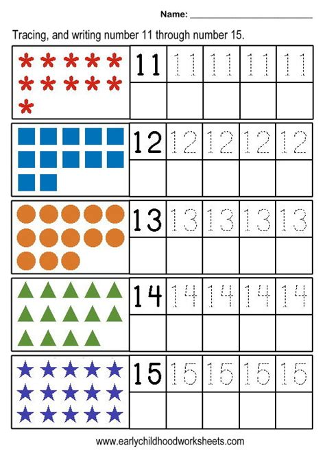 numbers 11 20 worksheets worksheets for all and