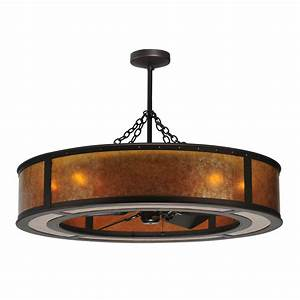 Meyda tiffany custom light in smythe craftsman chandelair ceiling fan atg stores