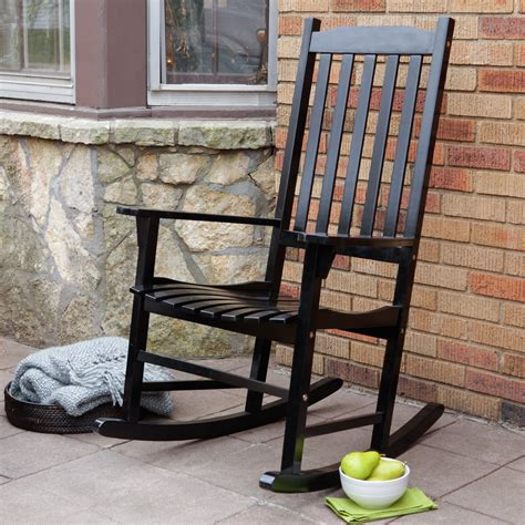 Outdoor Porch Chairs by Coral Coast Indoor Outdoor Mission Slat Rocking Chair