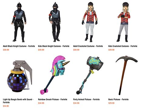 official fortnite themed halloween costumes