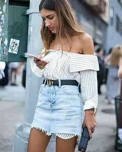 35 Gorgeous Spring Denim Skirt Outfits That Inspire - Fashionetter