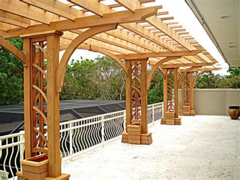 Rooftop Terrace Designs, Cantilever Pergola Kits