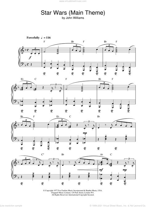 Do you usually like this style of music? Williams - Star Wars (Main Theme) sheet music for voice and piano