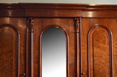Fine Quality Victorian Mahogany Wardrobe, Three-door