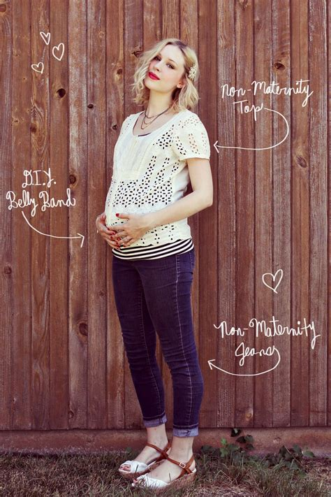 Maternity DIY Make A Belly Band u2013 A Beautiful Mess