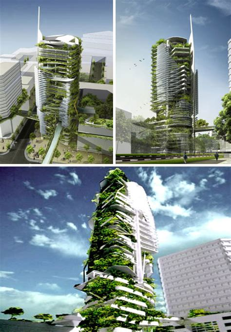 Sustainable Living Walled Skyscraper