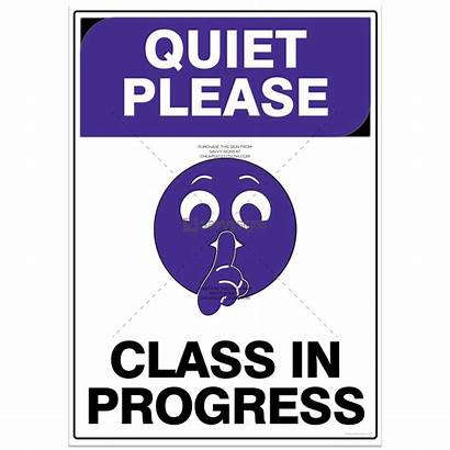 Signs Quiet Please Pictogram Progress Safety Class
