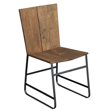 sequoia wood iron dining chair in light brown humble abode