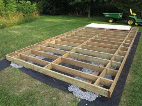 Floor Joist Spacing Shed by Gardenshed 3