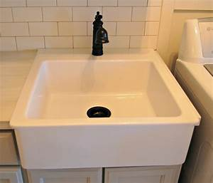 Roly poly farm laundry room reveal for Farmhouse sink for laundry room