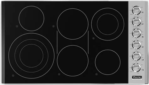 viking vecbsb   smoothtop electric cooktop   quickcook surface infrared elements