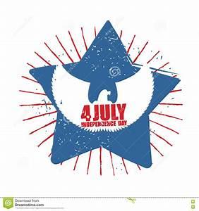 Eagle Symbol With Star Cartoon Vector   CartoonDealer.com ...