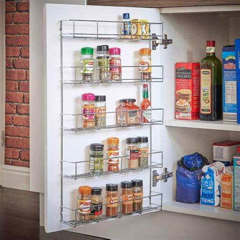 Spice Storage For Cupboards by 5 Tier Spice Herb Jar Rack Holder For Kitchen Door