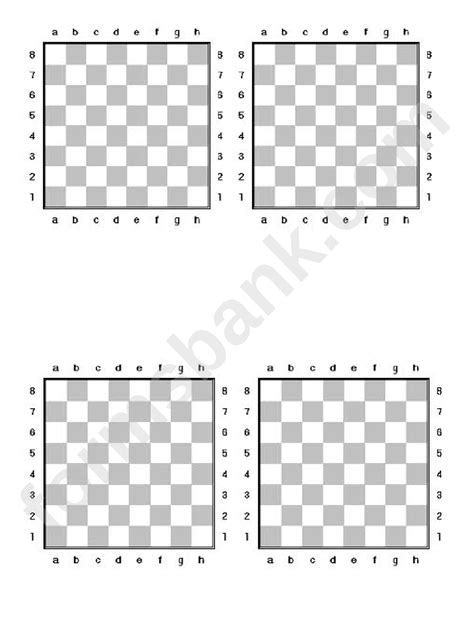 chess board template printable