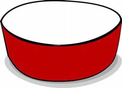 Bowl Dog Empty Clip Crimson Clipart Vector
