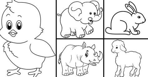 20 sketsa gambar mewaranai hewan untuk anak