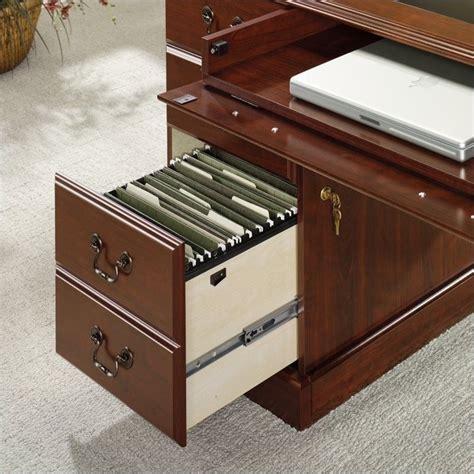 sauder executive desk black sauder heritage hill cherry w black inlay top executive