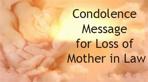 condolence message  loss  mother  law