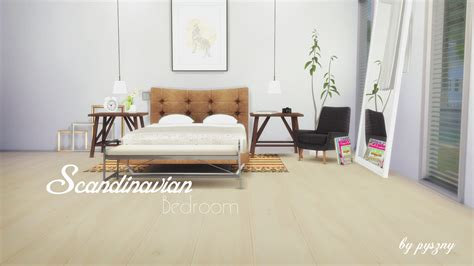Scandinavian Bedroom Sets by My Sims 4 Scandinavian Bedroom Set By Pyszny