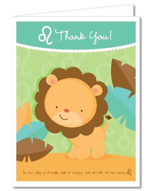 baby shower   cards lion leo horoscope