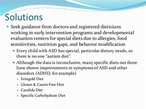 children  autism nutritional concerns  interventions