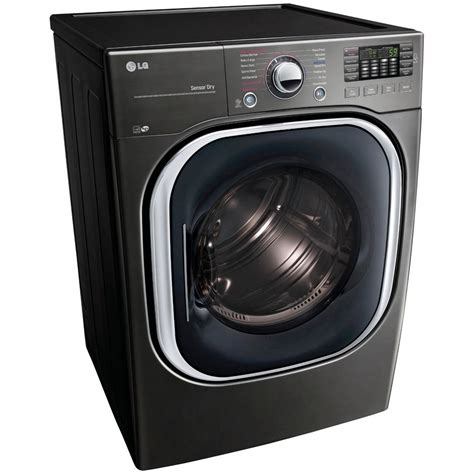 black washer and dryer dlex4370k lg appliances 7 4 cu ft turbosteam electric
