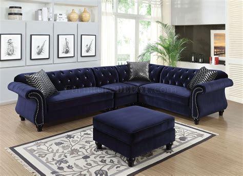 jolanda ii sectional sofa cmbl  blue fabric woptions