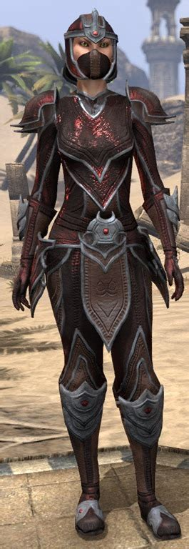 eso fashion redguard rubedo leather elder scrolls