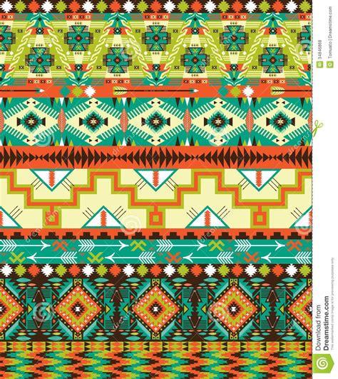 aztec colors aztec geometric seamless pattern stock vector