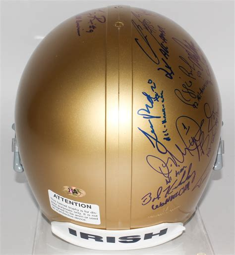 Notre Dame Fighting Irish Full-Size Helmet Signed by (19 ...