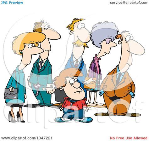 Royalty-Free (RF) Clip Art Illustration of a Cartoon Group ...