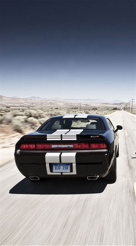Dodge Challenger Back Wallpaper For Iphone X 8 7 6