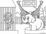 Zoo Coloring Animals Printable Animal Kindergarten Preschool Children Inspirations Outstanding Printables Preschoolers Entrance Coloringbay Drive2vote Mylifeuntethered Put sketch template